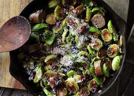 Brat & Brussels Sprouts Bowl
