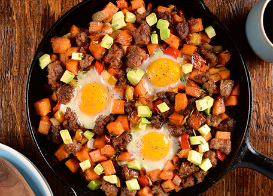 Sausage & Sweet Potato Hash