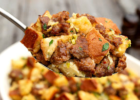 Sausage Bread Pudding