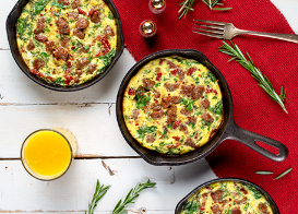 Holiday Breakfast Frittatas