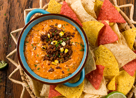 Spicy Sausage Queso Dip