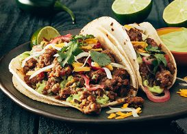 Spicy Pork Sausage Tacos