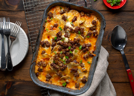 Cheese and Sausage Scalloped Potatoes