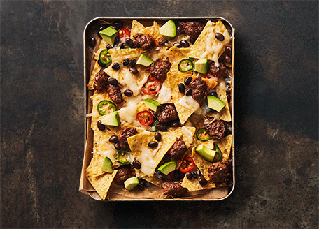Tex Mex Nachos with Sausage and Avocado