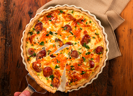 Smoked Sausage Quiche
