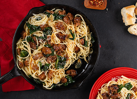 Quick and Easy Spicy Sausage Spaghetti