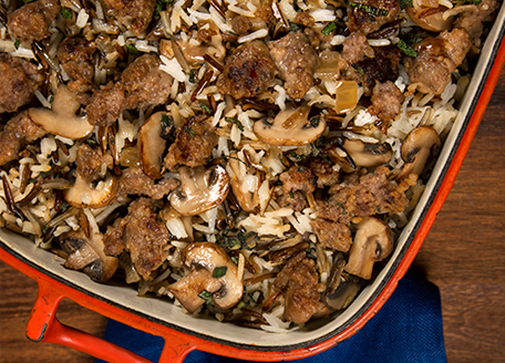 Wild Rice, Sausage and Sage Stuffing