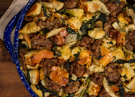 spinach sausage stuffing