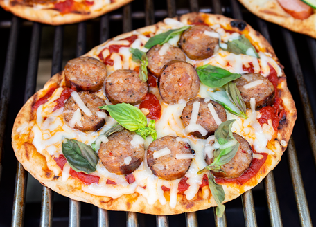 Sausage Pizza on the Grill