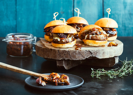 Bourbon-Spiked Sausage Sliders