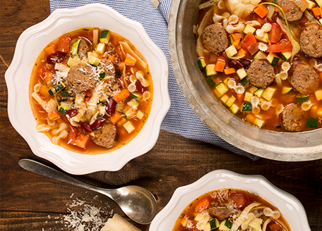 Minestrone Soup with Italian Sausage
