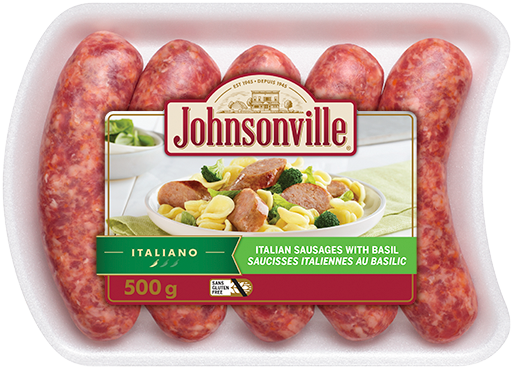 Italian Sausages with Basil