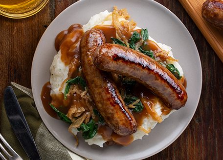 Bratwurst Bangers and Mash