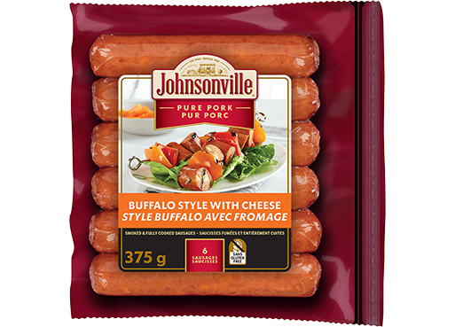Smoked Buffalo Style Sausages with Cheese