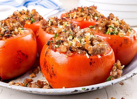 Sausage Stuffed Tomatoes