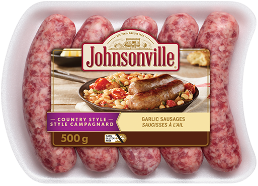 Country Style Garlic Sausages