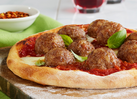 Italian Meatball Pizza