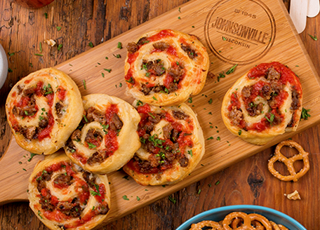 Sausage Pizza Wheels
