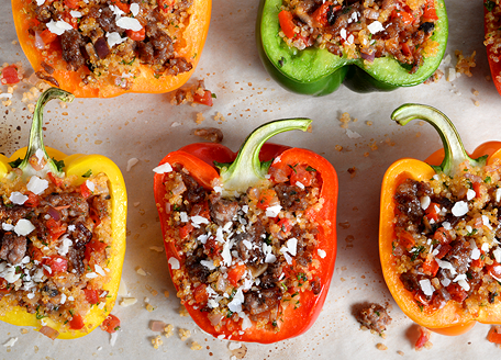 Italian Sausage and Quinoa Stuffed Peppers