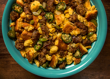 Spicy Jalapeno & Cheddar Cornbread Stuffing